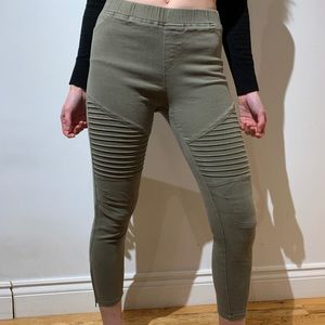 😎Cropped Moto Pants
